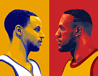 ESPN: NBA Finals illustrations