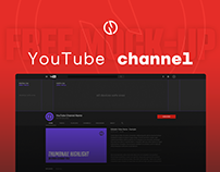 Free Mock-up | YouTube Channel Art