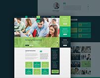 Training Center Homepage Design Concept | UI PSD