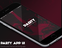 Party - Events Mobile App UI Design