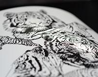 Brush Pen Wildlife Prints