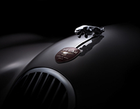Jaguar XK 120 car fine art collection (FDL technique)