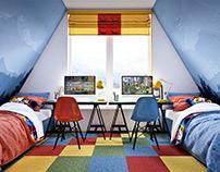 A-frame kids room