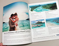 Romantic Island Getaways 2 page ad - Destination Bliss