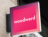 Woodward banking brand identity solution.