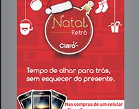 Comunicação visual para ação - Natal Retrô Claro / Lupa