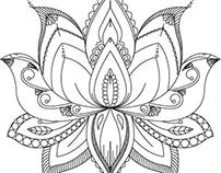 Tattoo design lotus