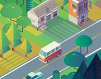 Street in Sunset - Affinity Designer Practice