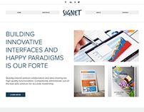 Signet Agency Portfolio Website Concept