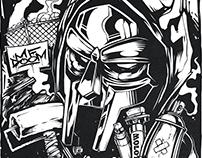Sleeve Tattoo Sketch (MF Doom / Wu-Tang)