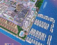 Yacht Club Map Illustration