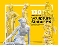 Mockup - Sculptures Statue #4, for branding