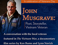 Promotional Design for John Musgrave Event