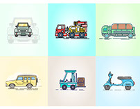 Vehicles-Illutration-Collection