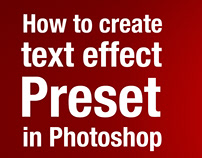 How to Create ANY Text Effect Preset in Photoshop cc