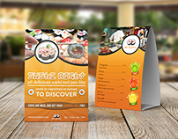 Sushi Restaurant Table Tent Template