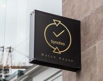 Synchro Watch House Logo Design