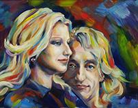 Portret, painting, art