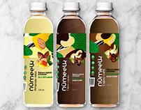 Packaging étiquette lait végétal numeelk, loolye labat
