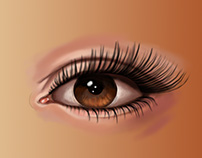 my first digital eye painting