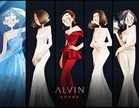 插画 | ALVIN GALLERY | 婚纱笔记集合
