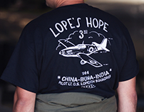 """P-51C Mustang """"Lope's Hope 3rd"""" Limited Edition T-Shirt"""