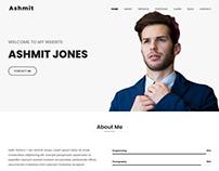 Ashmit - Personal Portfolio HTML Template