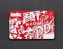 顏社宇宙初代會員卡 kao!inc membership card