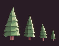 Some Lowpoly Fir Trees