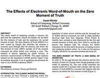 The Effects of Electronic Word-of-Mouth on the ZMOT