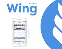 UI/UX Design for App Wing (Booking flights app)