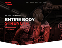 Rhino gym Website