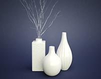 Vases & flowers.