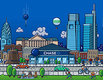 Chase Philly Environmental Graphics