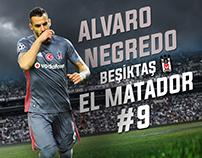 Alvaro Negredo|Football Poster Design-SerdarGüneri-BJK