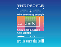 The people who are crazy enough to think they can...