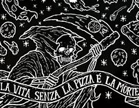 Blackboard mural - A Pizza da Mooca
