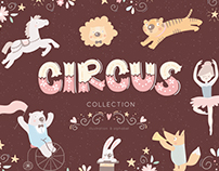 Circus illustration & alphabet