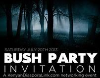 KenyaLink Diaspora Bush Party Flyers