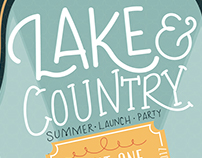Lake & Country Magazine Launch Party Invite