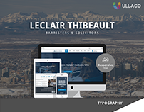 Leclair Thibeault Barristers & Solicitors Website Desig