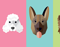 Set of Dog breed designs