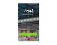 Fresh App Login Screen