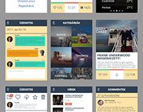 Flat mobile UI design