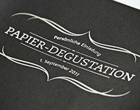 Invitaition «Papier-Degustation»