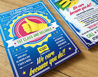 CQD Cleaning Services - Logo, flyer, t-shirt