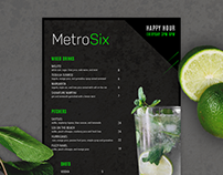 MetroSix Menu & Business Card
