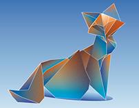 Origami Vector Fox
