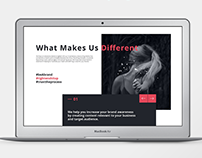Minimal Webdesign for Social Media Marketing Company