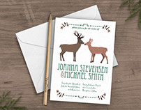 Woodland Wedding Invite